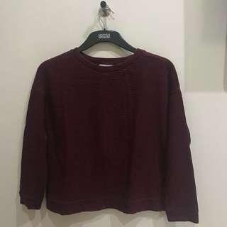Zara Trafaluc Maroon Sweater