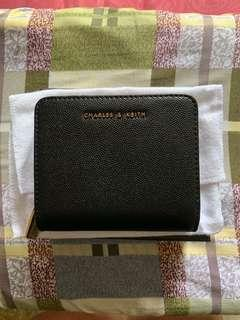 CHARLES & KEITH Small Black Wallet