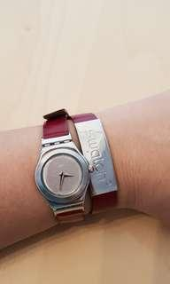 🚚 Swatch double strap watch