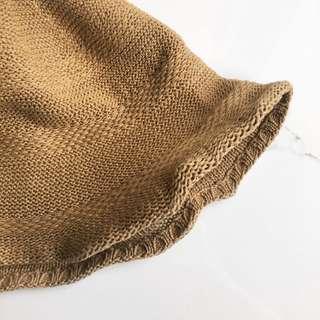 🚚 大地駝色麻料調節遮陽帽