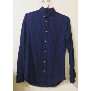 🚚 H&M'深藍襯衫