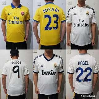 Jersey Bola Used (3pcs) Rp 100.000