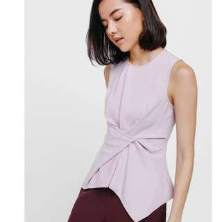 Love Bonito LB - Aedia Asymmetrical Ruched Top - Lavender Size S