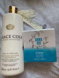 Anna Sue Perfume & Grace Cole Lotion