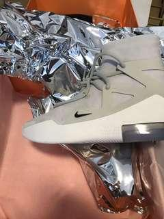 🚚 WTS NIKE FEAR OF GOD FOG AIR 1 WHITE / LIGHT BONE