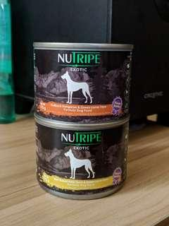 Nutripe dog food dog treat canned bought in SG