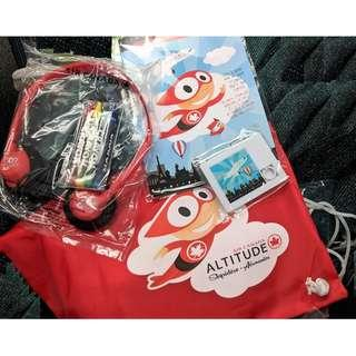 AIR CANADA - 小朋友 禮包 (小背包 / 耳機/ 顏色筆) 加拿大航空