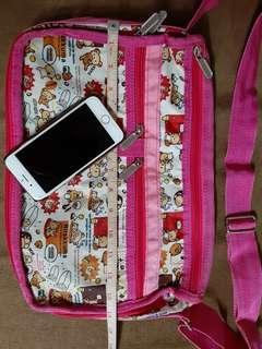Rilakkuma expandable pink cute bag