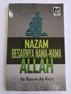 Buku Nazam Besarnya Nama-Nama Allah