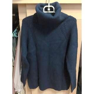 🚚 全新高領舒適柔軟毛衣-深藍