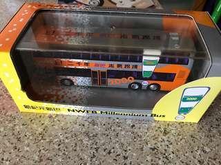 1:76丹尼士三叉戟型亞歷山大雙層巴士「新紀元新巴」18号堅尼地城路線。