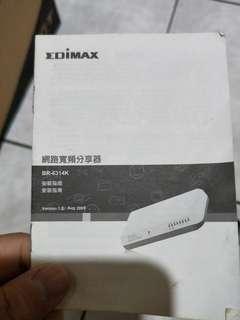 🚚 EDIMAX BR-6314K  高速網路寬頻分享器