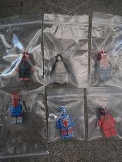 Lego Custom Printed Spiderman Figures