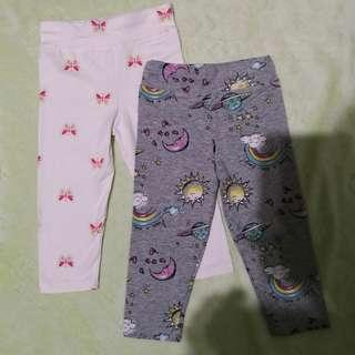 Toddler Leggings (Glitter Butterfly & Sun/Moon) - 1 to 2 years old
