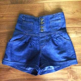 High Waist Short Pants Free Size