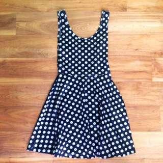 Polka Dots Retro Thigh Length Dress Kitschen