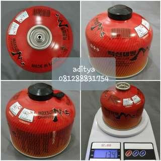 Tabung gas canister tabung gas lindal tabung gas ulir plus adaptor dan pouch
