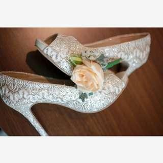 Gold Wedding Shoes by Andre Valentino