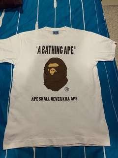 🚚 Made In JP A Bathing Ape Bape Tee sz L Nbhd Wtaps off-White
