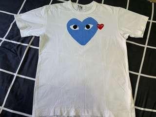 CDG Comme Des Garçons Play Blue Heart M Bape Off-White
