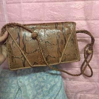 Snakeskin beach bag
