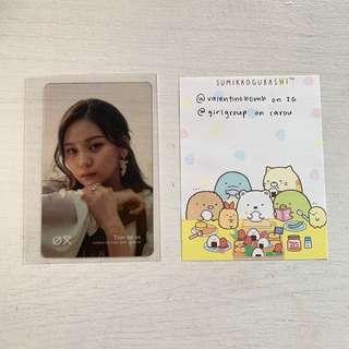 🚚 gfriend time for us umji transparent photocard