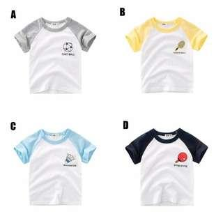 💗Free Gift💗 1-10 Years Children T-Shirt Boys Short Sleeved Cotton  Clothes
