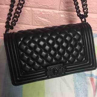 Chanel Limited Edition ALL BLACK premium le boy