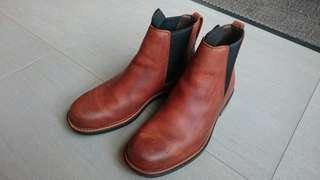 🚚 Timberland 焦糖色真皮男高筒靴