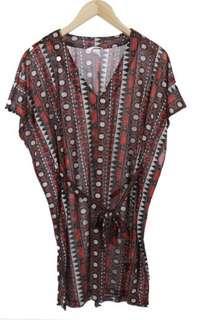 Tribal mini dress H&M