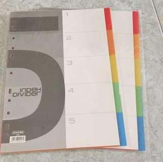 File Tab Dividers (5 Tabs)