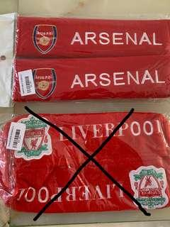 Arsenal safety belt cover & Liverpool tissue box cover