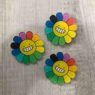 Murakami Flower Pin Badge Brooch ‼️5 FREE 1‼️