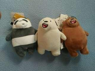 Miniso We Bare Bears Plushie Keychain