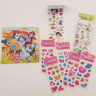 Giveaway my little Pony puzzle and Stickers