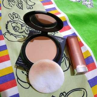 Bedak purbasari dan lipstick maybelline