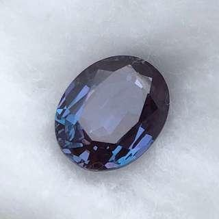 Synthetic Alexandrite Color Change Faceted Oval Gemstone
