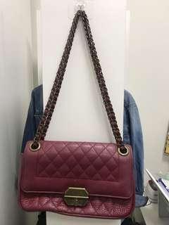 Wine red shoulder bag 手袋