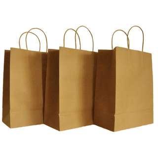 Kraft Paper Bags (25.5cm * 13cm * 33cm)