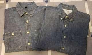 無印良品牛仔Shirt x2件