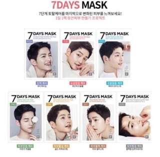 🚚 Forencos 7 Days masks (Song Joong Ki)