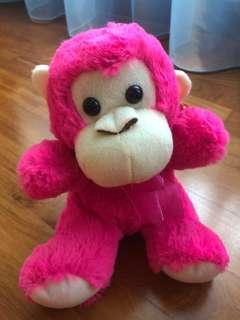 Brand New Pink Monkey Plushie
