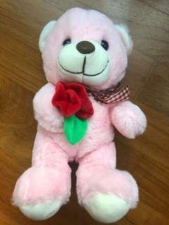 Brand New Pink Bear Plushie