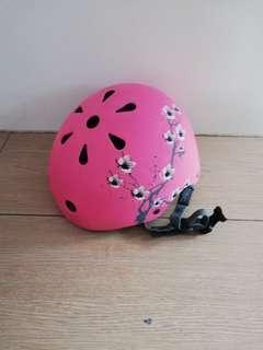 Pink kids bike helmet, Oxelo