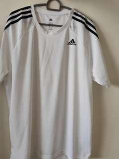 White Dri-Fit Adidas Shirt