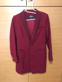 Red Jacket blazer 深紅 西裝褸