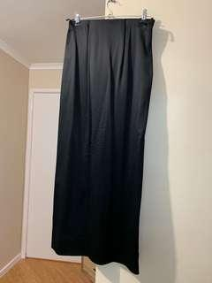COS Black Silky Maxi Skirt with Slit