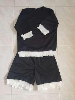 🚚 BN 2 Pcs Black Top and Short