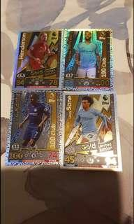 🚚 Match Attax 18/19 Hundred Clubs and Gold LEs