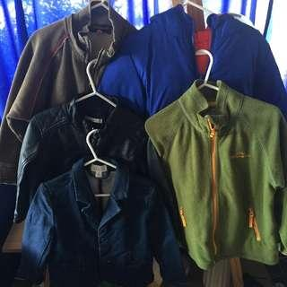 Boys Jackets Size 2, 3,4 Years Old